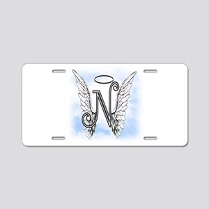 Letter N Monogram Aluminum License Plate