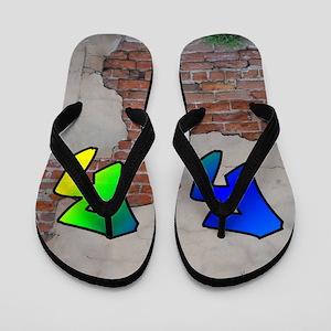 GRAFFITI #1 R Flip Flops