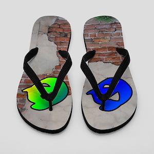 GRAFFITI #1 Q Flip Flops