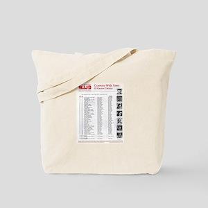 WJJD 1971 Survey Tote Bag