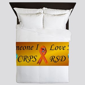 Someone I Love Has CRPS RSD Ribbon FIr Queen Duvet