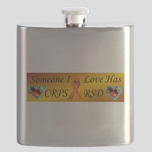 Someone I Love Has CRPS RSD Ribbon FIre & Ic Flask