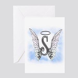 Letter S Monogram Greeting Cards