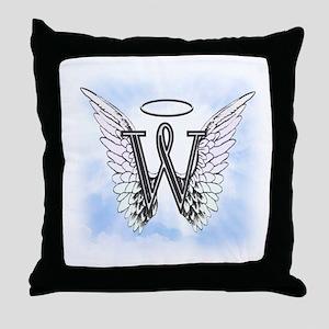 Letter W Monogram Throw Pillow
