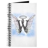 Angel letter w monogram Journals & Spiral Notebooks