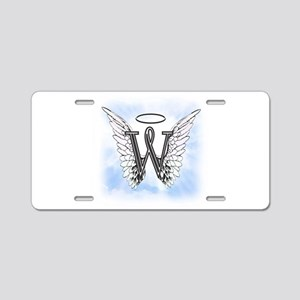 Letter W Monogram Aluminum License Plate