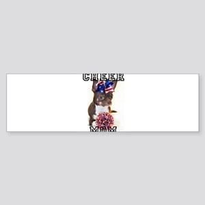 Cheer Mom Chihuahua Dog Bumper Sticker