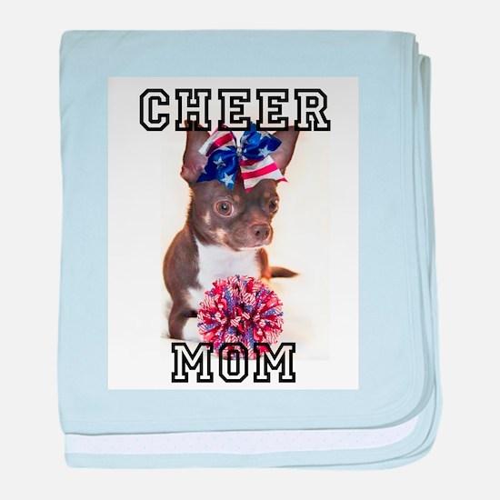 Cheer Mom Chihuahua Dog baby blanket
