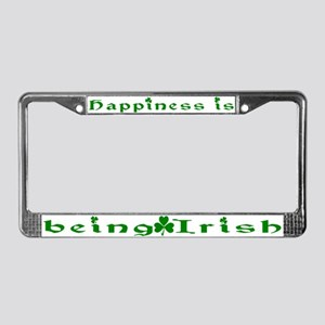 Happiness Irish License Plate Frame