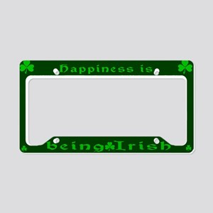 Happiness Is Being Irish License Plate Holder