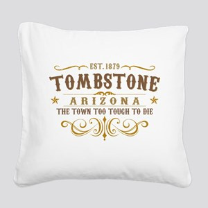 Tombstone Square Canvas Pillow