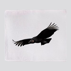 Black Vulture Throw Blanket