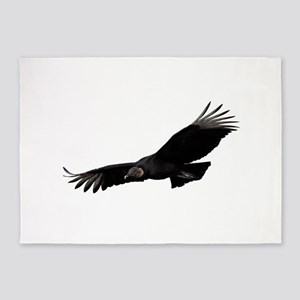 Black Vulture 5'x7'Area Rug