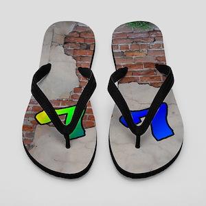 GRAFFITI #1 L Flip Flops