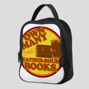 Leather Bound Books Neoprene Lunch Bag