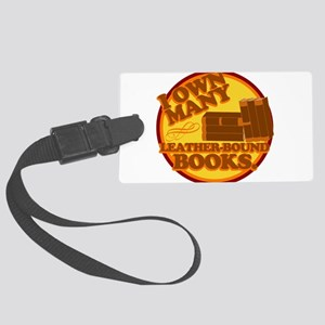 Leather Bound Books Luggage Tag