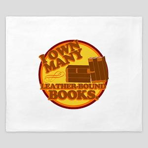 Leather Bound Books King Duvet