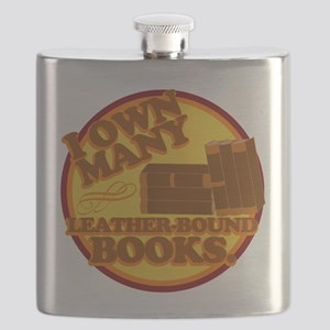 Leather Bound Books Flask