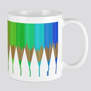 Melting Rainbow Pencils Mug