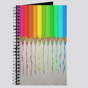 Melting Rainbow Pencils Journal