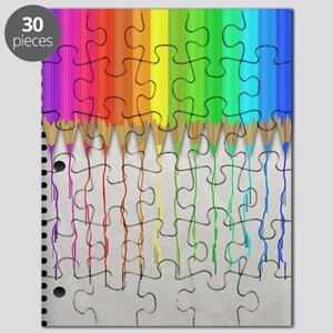 Melting Rainbow Pencils Puzzle