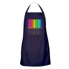 Melting Rainbow Pencils Apron (dark)
