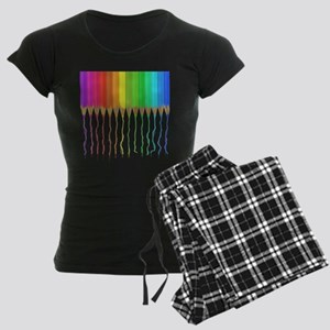 Melting Rainbow Pencils Women's Dark Pajamas