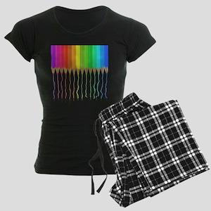 Melting Rainbow Pencils Women's Dark Pajamas