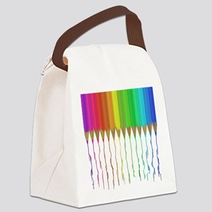 Melting Rainbow Pencils Canvas Lunch Bag