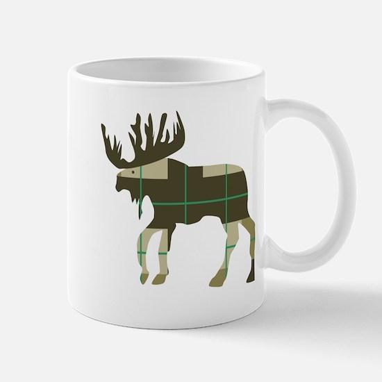 Plaid Moose Mugs