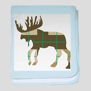 Plaid Moose baby blanket