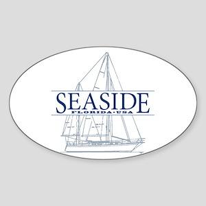 Seaside - Sticker (Oval)