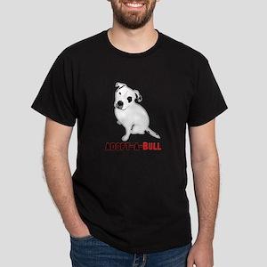 White Pitbull Puppy Adopt-a-Bull T-Shirt