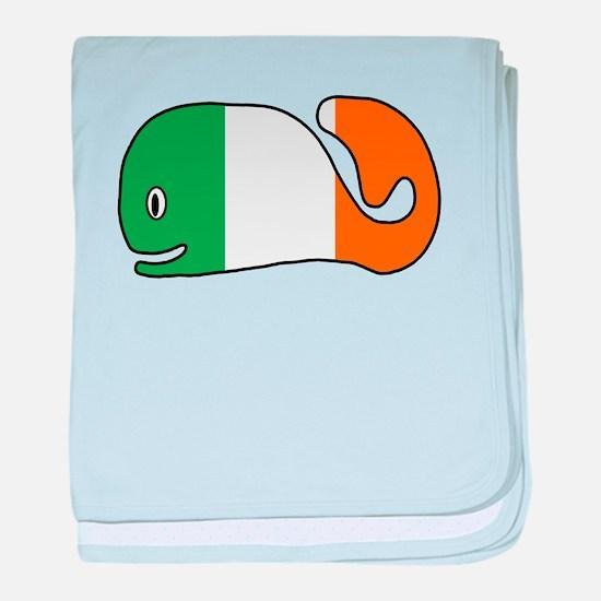 Irish Whale baby blanket