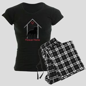 Forever Home Logo Pitbull Black Pajamas