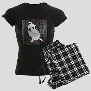 Cute white pit Bull circle pattern Pajamas