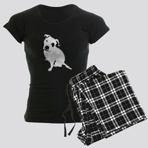 Cute Pitbull PuppyWhite Shaded Pajamas