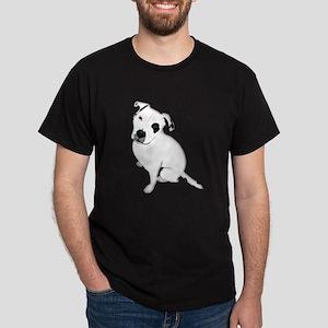 Cute Pitbull PuppyWhite Shaded T-Shirt