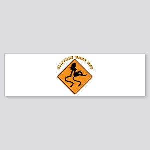 Slippery When Wet - Girl Sticker (Bumper)