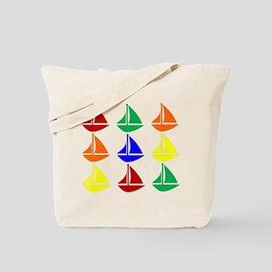 Colorful Sailboats Tote Bag