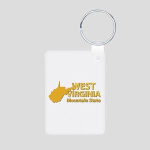 State - West Virginia - Mt Aluminum Photo Keychain