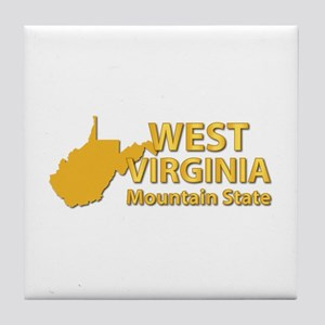 State - West Virginia - Mtn State Tile Coaster