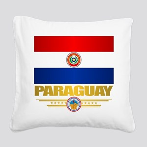 Paraguay National Flag Square Canvas Pillow