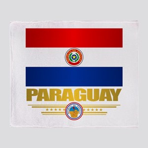 Paraguay National Flag Throw Blanket