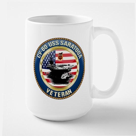 CV-60 USS Saratoga Large Mug