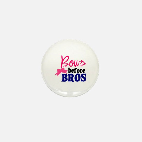 Bows Before Bros Mini Button