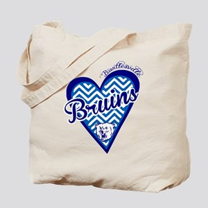 Bartlesville Bruins Chevron Heart Tote Bag