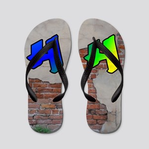 GRAFFITI #1 H Flip Flops