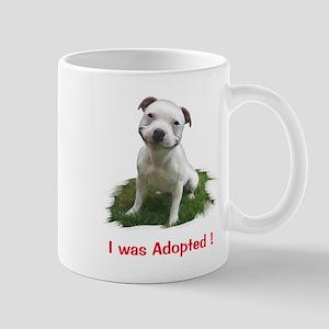Smiling Pitbull Adopted Mugs
