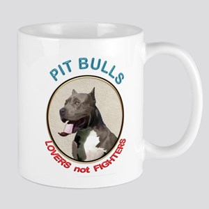 Pit Bull Lovers not Fighters Mugs